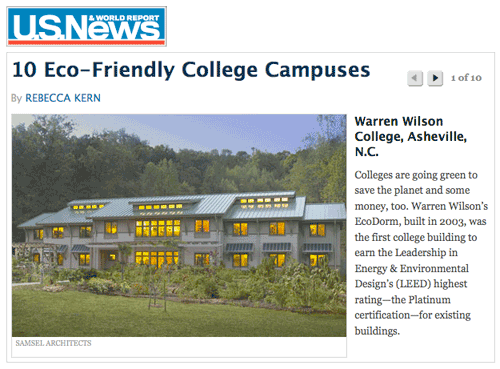 10 Eco Friendly College Campuses - US News & World Report