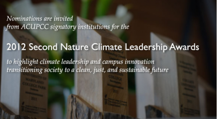 2012 Second Nature Climate Leadership Awards